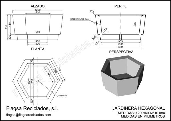 Jardineras mobiliario urbano flagsa reciclados - Jardineras a medida ...
